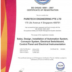 2018 - OHSAS18001 CERTIFICATE