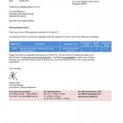 BCA ME02_L3 Approval Letter