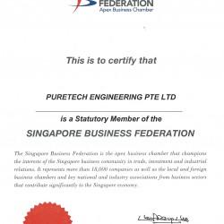 Sing Business Federation Cert