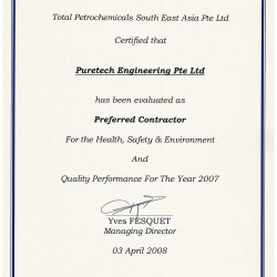 Total Petrochemicals 2007